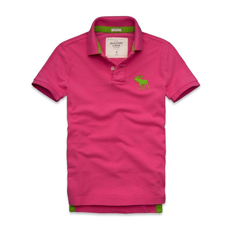 Рубашка поло AF мужчин рубашка поло покупку американских счетчики аутентичные Летняя Мужская хлопок вышитые оленей поло воротник короткий рукав