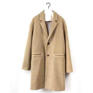 基本款羊毛呢长大衣