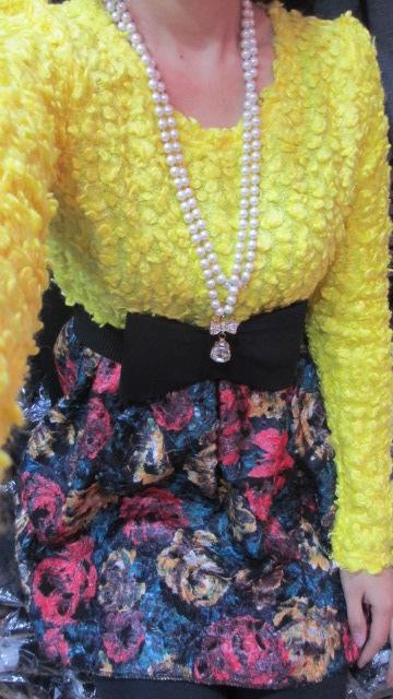 Женское платье Зима, шить тонкий моды платья новые ягнят шерсти шерстяной юбки сладкие Луки в конце пояса потоков