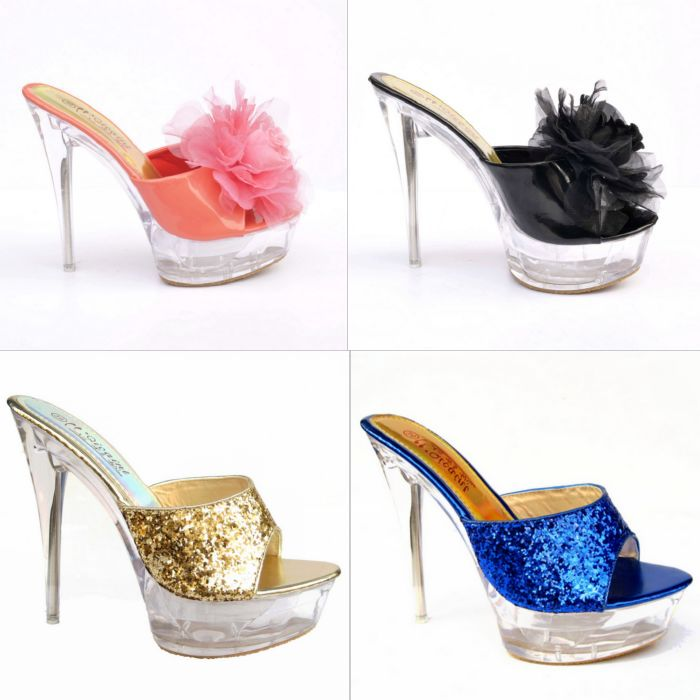 2013 new summer shoes Korea sweet sexy crystal shoes high-heeled sandals with a fine flower Club