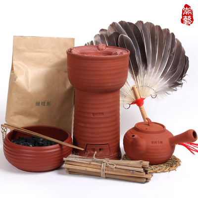 The new Huang Shufan hand red mud charcoal stove Diao + + sand olive tea stove dual-use high carbon furnace carbon wind furnace stove