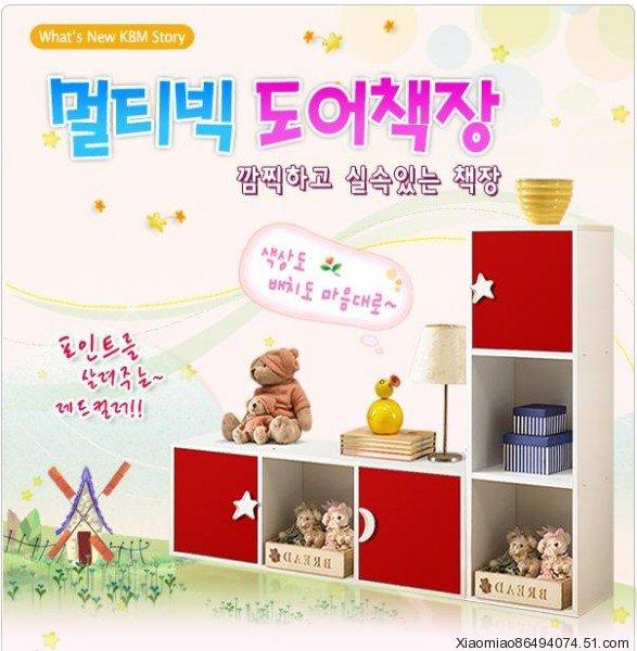 Книжный шкаф Корейский стиль книжного шкафа книжные шкафы кабинета комбинации ребенка книжный шкаф