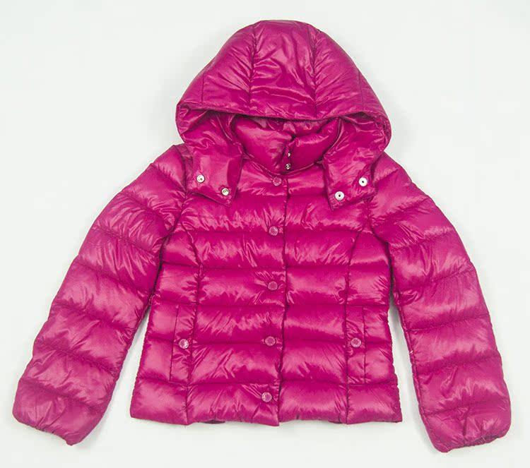 Пуховик детский Новый Бенеттон новорожденных детей мальчиков и девочек носить супер легкий, супер мягкий белый утка вниз с капюшоном куртка зима 2013