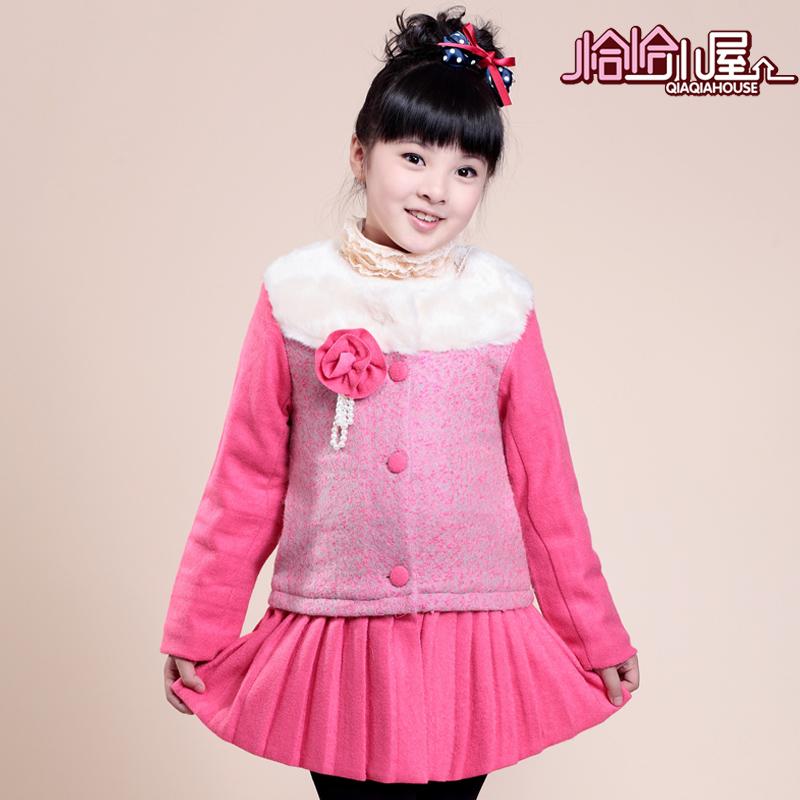 Пальто детское Precisely hut qqxw201352 2013 Девушки Зима Смешанная ткань Полиэстер Корейский