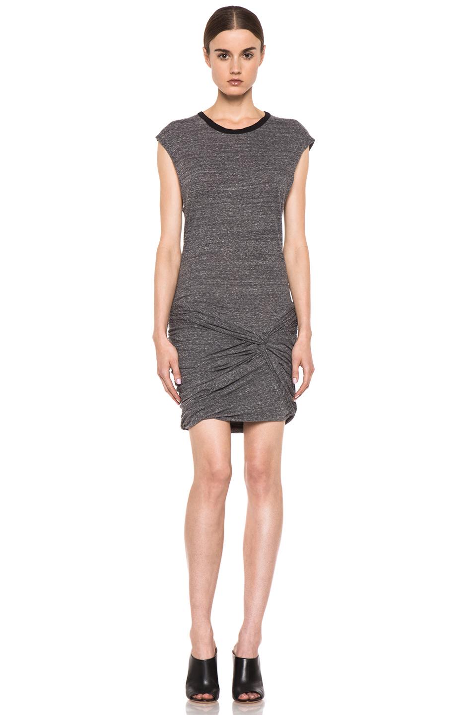 Женское платье IRO серый диких излом складки Слим похудение жилет юбка шею вязать платье сумка хип Осень 2013 Парча