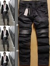 Balmain 2013 selling a single product Washed black and gray Men Slim Jeans