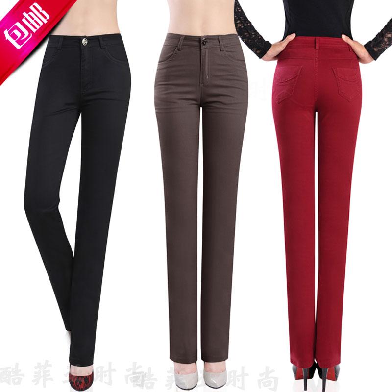 Женские брюки SY Mm Длинные брюки Прямые Разное Шнурки, пояс