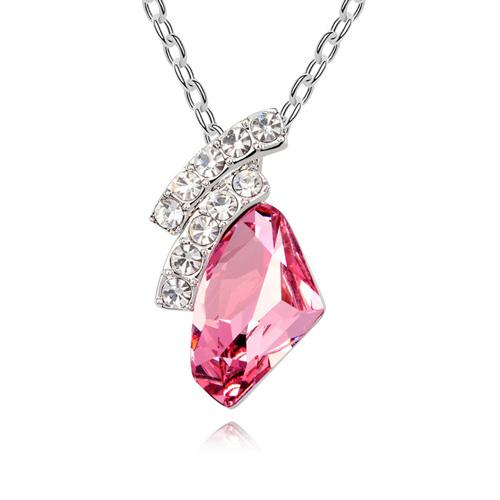 恋时尚 奥地利水晶项链--美好时光 女士首饰 饰品 项坠吊坠 礼物