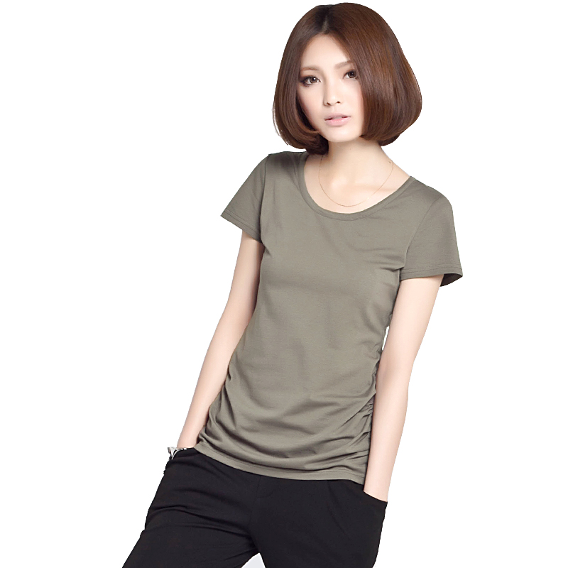 Game of pratitya-samutpada 2013 new Premium cotton Ladies t shirt Korean solid color short sleeve slim fit t shirt short sleeve women's summer clothing