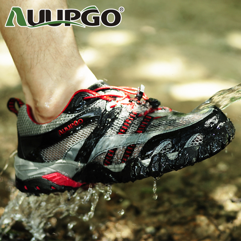 AUUPGO summer outdoor shoes, hiking shoes walking shoes authentic men shoes air speed did upstream shoes