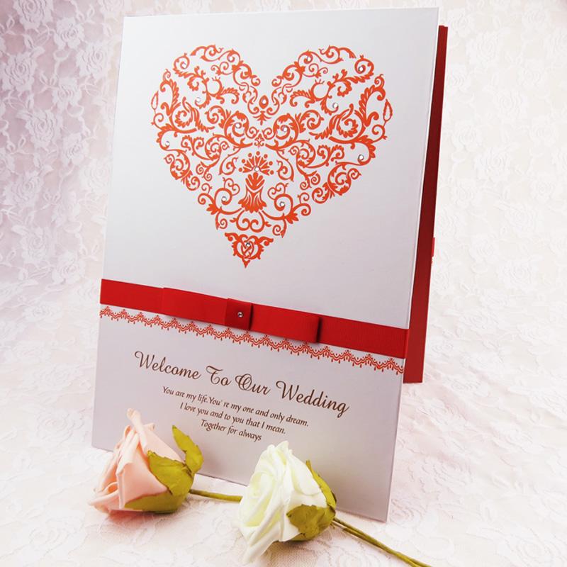 婚礼签到本 结婚签名册 纯手工 嘉宾题名录 题名册 题名簿