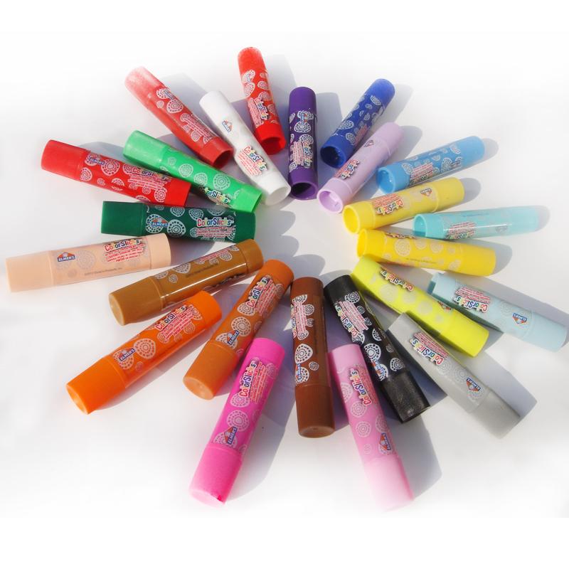 儿童玩具彩色24色 专利无毒安全水洗塑料外壳旋式笔型蜡笔油画棒