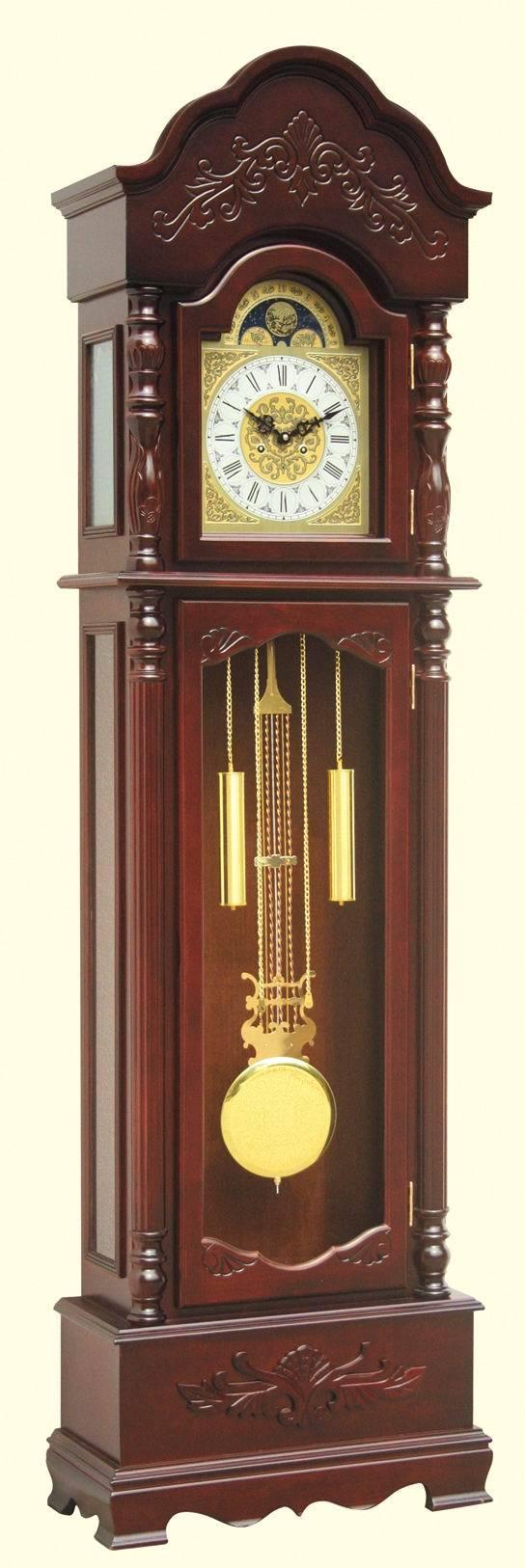 *中式风格经典立钟落地钟木制2013店铺三包0.5手动机械玻璃金属
