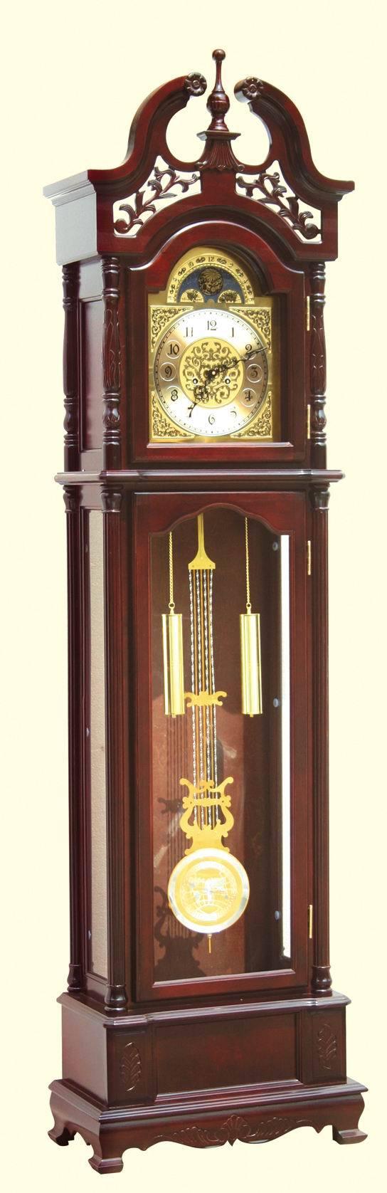 *中式风格经典立钟落地钟木制2013玻璃0.5店铺三包金属手动机械