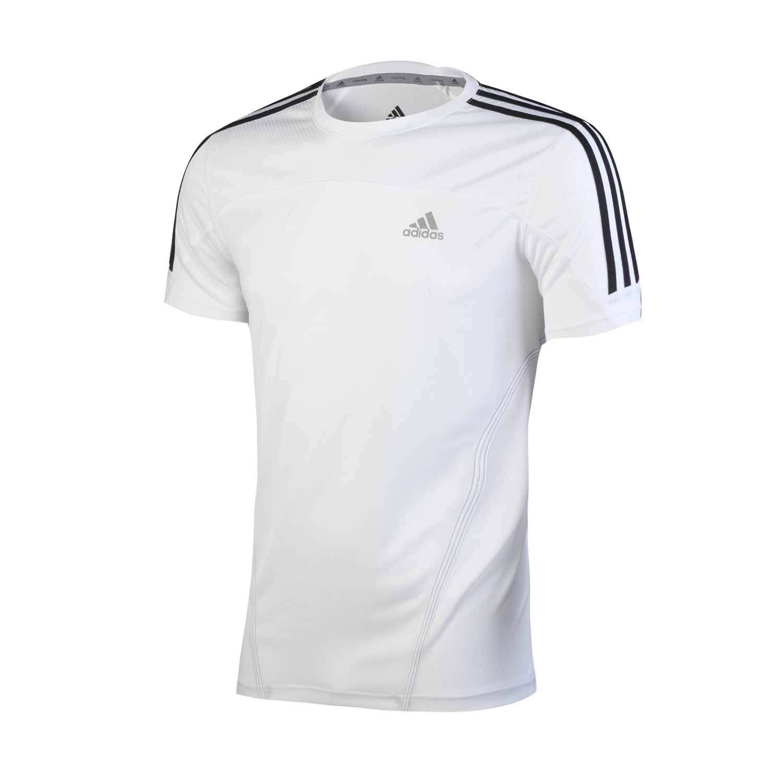 Спортивная футболка Adidas w50014 2013 О-вырез Короткие рукава ( ≧35cm ) Полиэстер Для спорта и отдыха