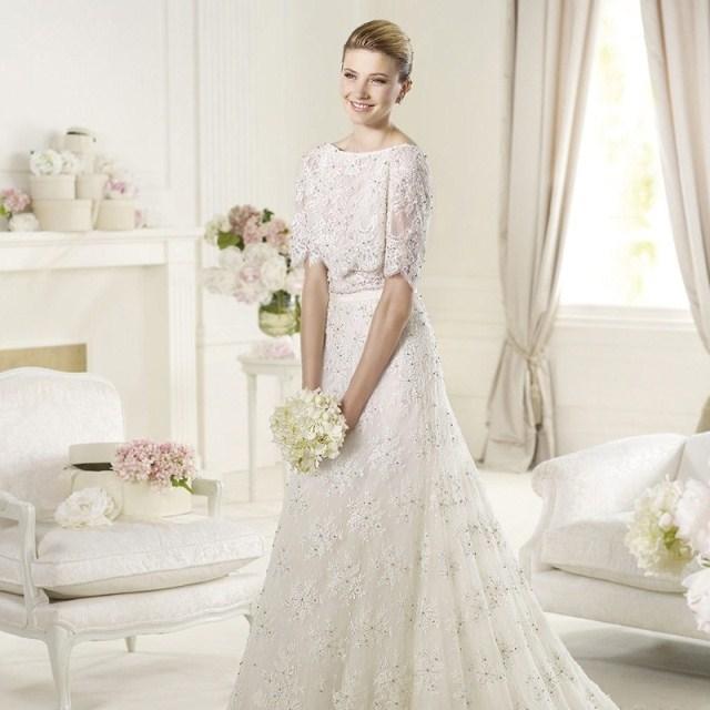 Свадебное платье 8 2013 Зима 2012 Кружево А-образная юбка Императорский
