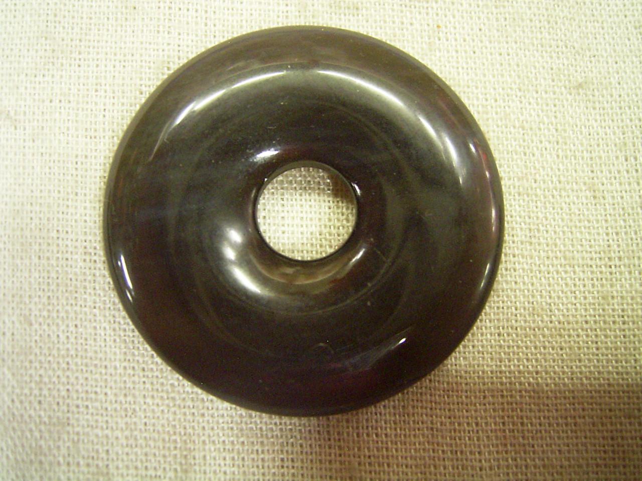 Подвеска Природные ожерелье кулон обсидиан пончик (средний)