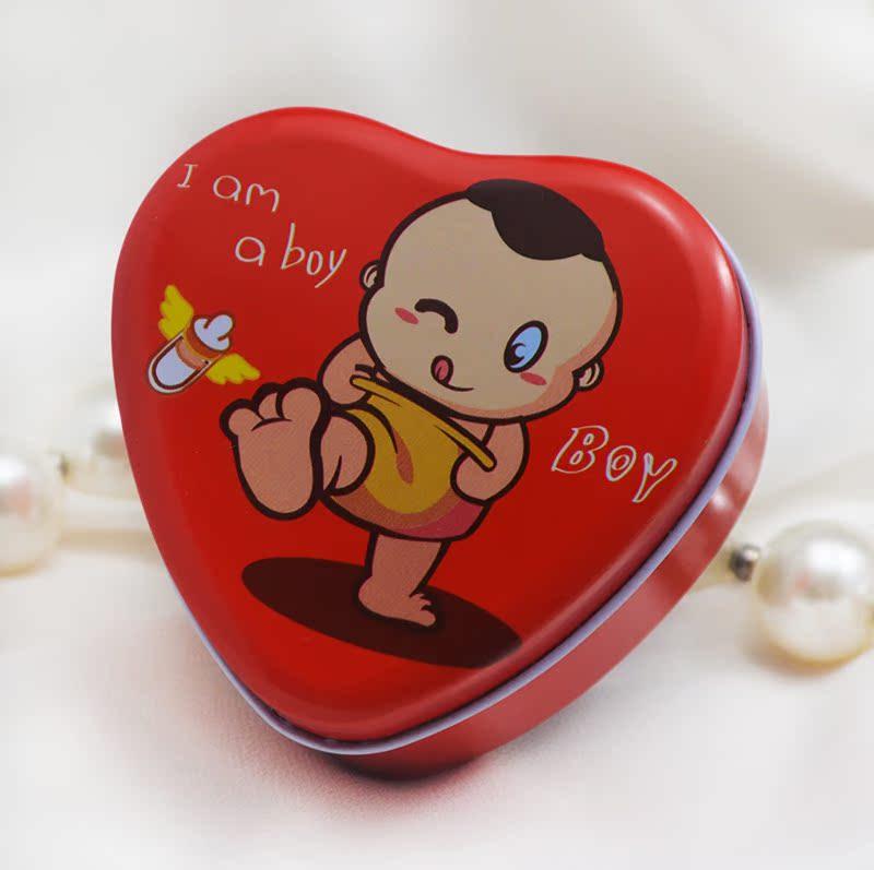 2013 新款 男宝宝出生满月周岁 创意喜糖盒 喜蛋包装 马口铁盒