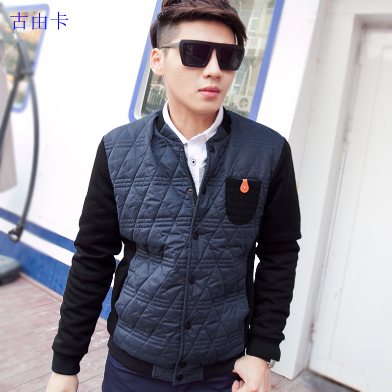 GUUKA Fall/winter youth put Korean slim fashionable Plaid cashmere thermal shirt boom increases men's long sleeves shirt