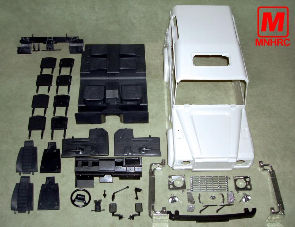 Детали для дистанционного управления Моделирование «Специальных» 1/10 Land Rover Defender от дорожного пульта дистанционного управления автомобилей mnhrc тело D90
