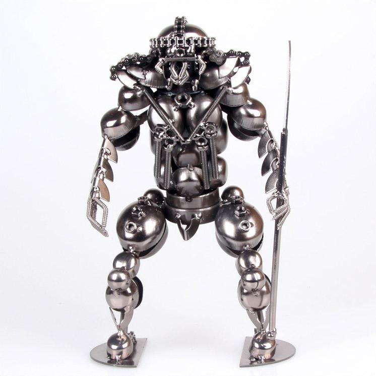 乐满屋家居 超酷铁艺机器人大刀怪兽摆件 个性装饰品男士生日礼物