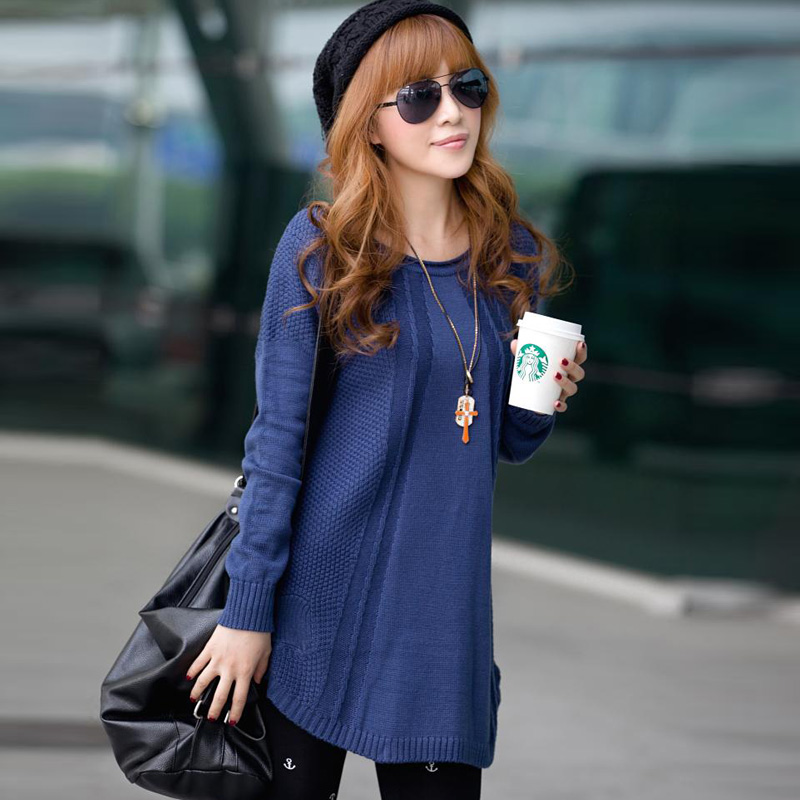 Dream city in spring 2013 sweater long plus size relaxed Korean ladies ' knitted sweater