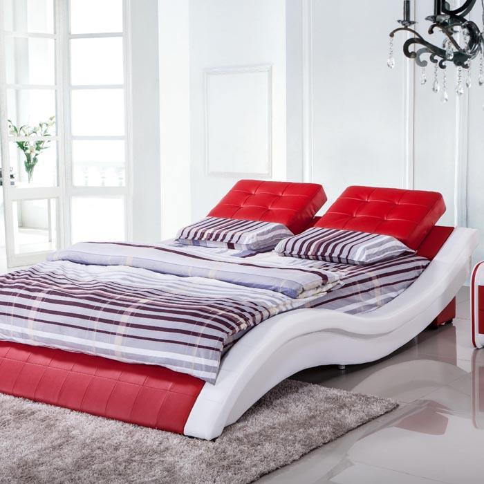 кожаная кровать   1.8 KS699A