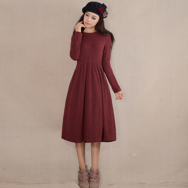 加厚打底长袖连衣裙