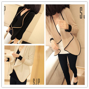 2013 spring clothing new coat-dress women spring and autumn leisure Korean thin long sleeves shoulder pads small suit Jacket Women