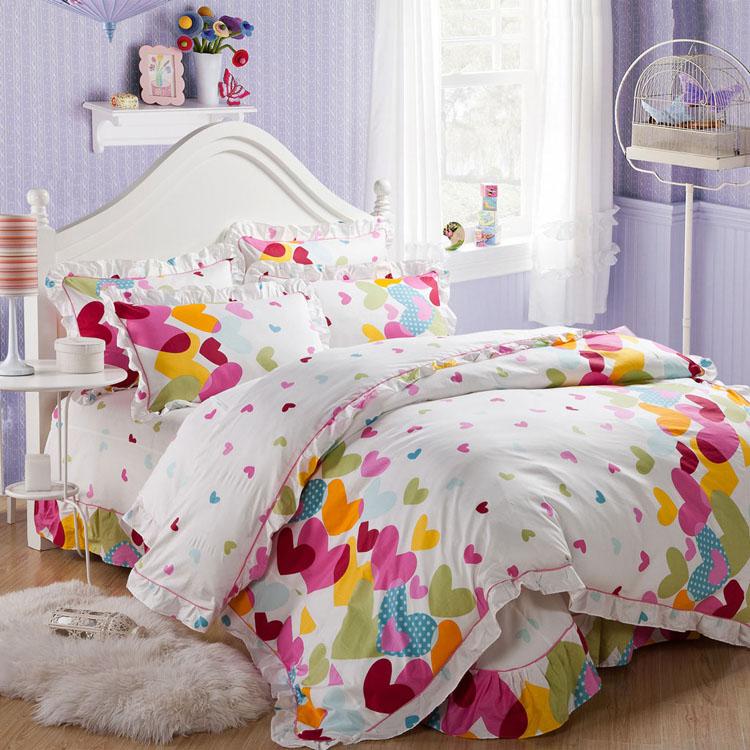 床上用品全棉四件套婚庆床品韩国纯棉被套床单田园家纺床品清仓