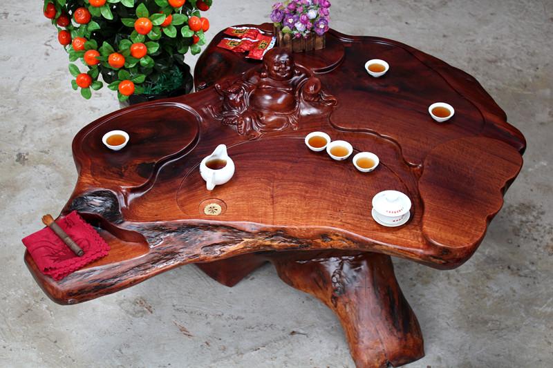 红花梨木根雕茶几茶桌 茶台红木树根茶海 高档客厅实木茶桌特价