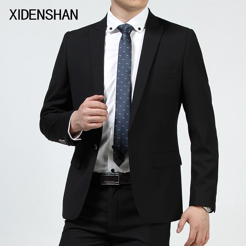 小西装 学生 潮男士正装商务面试修身韩版西服套装 结婚礼服 薄1