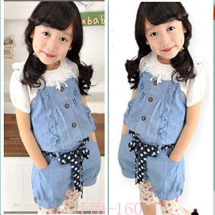 Short Suspender Jeans