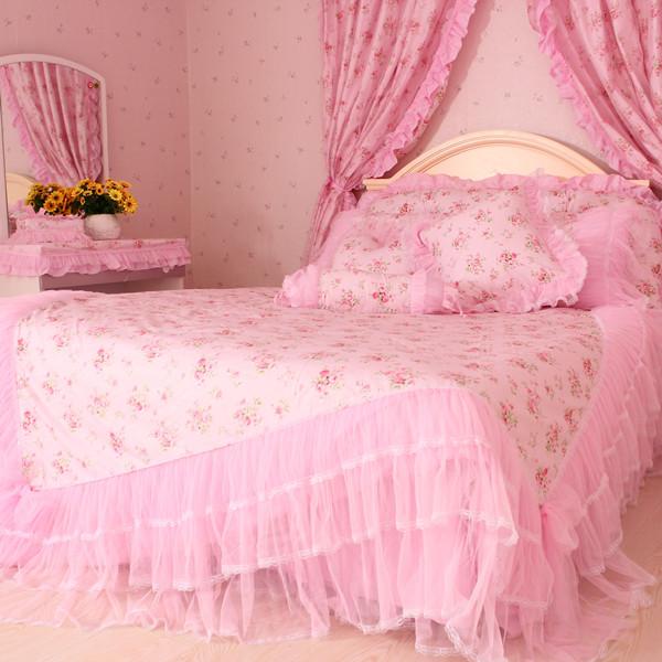 梦幻花园韩式家纺纯棉四件套精品家纺床上用品婚庆公主床品特价包邮