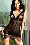 2012 new night fire sexy underwear sexy mini dress translucent Tousha Temptation 2347 short skirt thong
