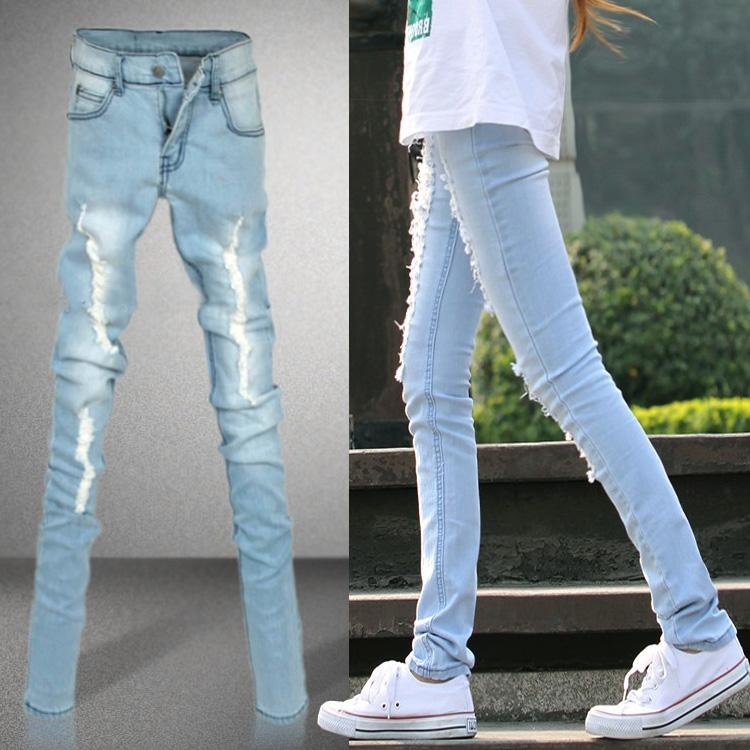 Как белые джинсы сделать голубыми