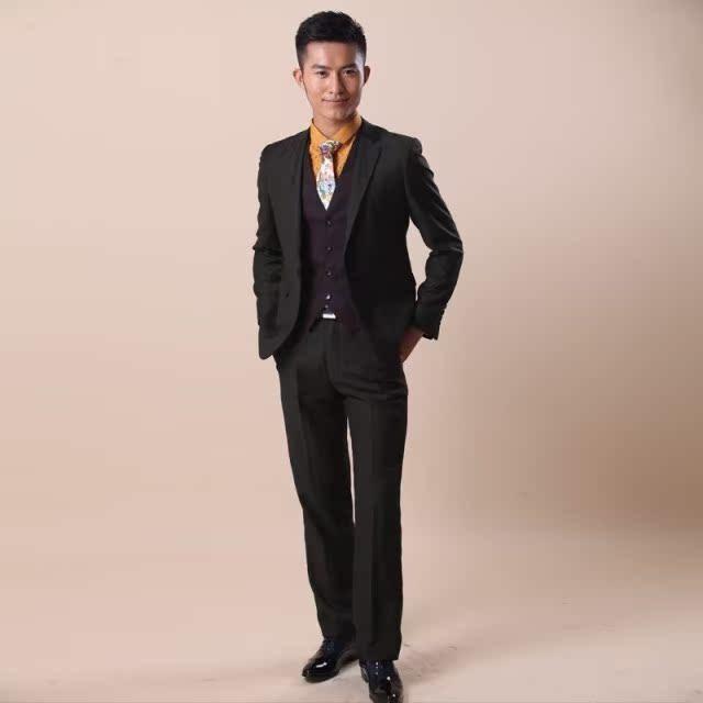 2013新款 影楼男士西装 男装外套 时尚修身新郎结婚礼服 韩版
