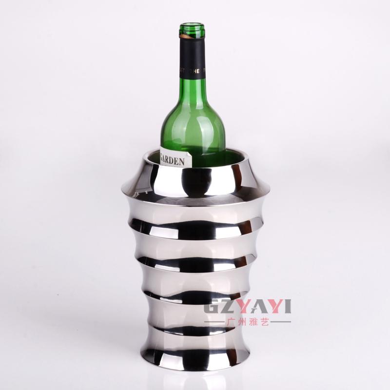 出口法国 不锈钢冰桶 香槟桶 红酒 创意 欧式香槟桶 限时抢购