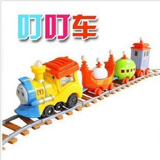 New shelves Special mini electric train track Thomas / children's music ringing car simulation car