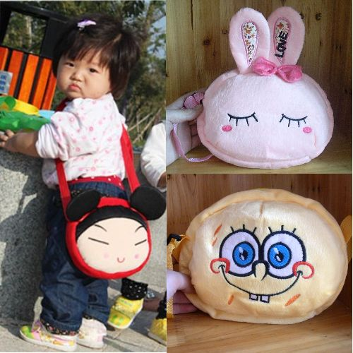 Cartoon fluffy children's snack bag cartoon gadget bag kindergarten children's gadget bag package types