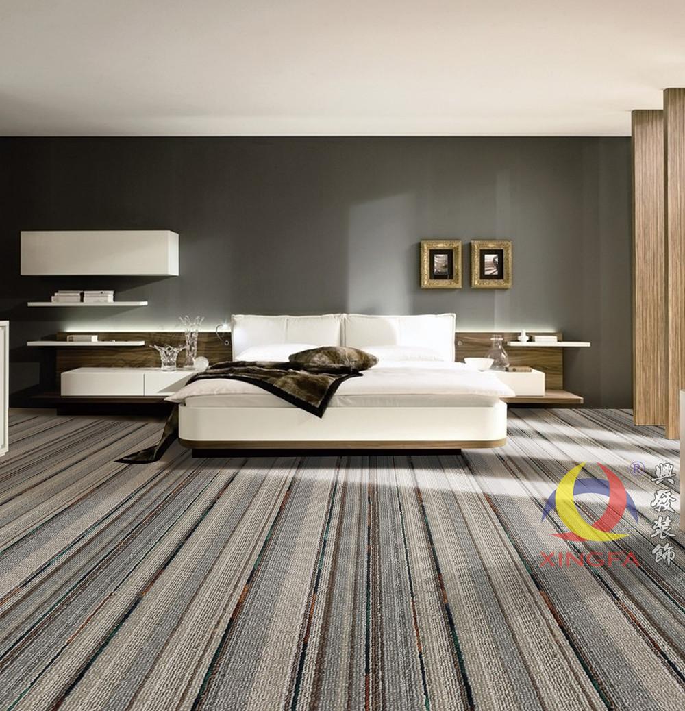 高档公司办公室地毯 满铺地毯加厚条纹酒店客房地毯 卧室展厅地毯