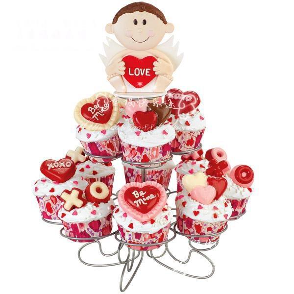 翻糖杯子蛋糕cupcake Love 情侣 婚礼 红色浪漫甜品台小甜点