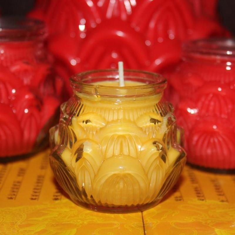 Свечи, Масляные лампы, Масло Без запаха свечи очень большие плоские оптовой Lotus/Lotus масляные лампы масляные лампы Мяо Гуань водохранилище