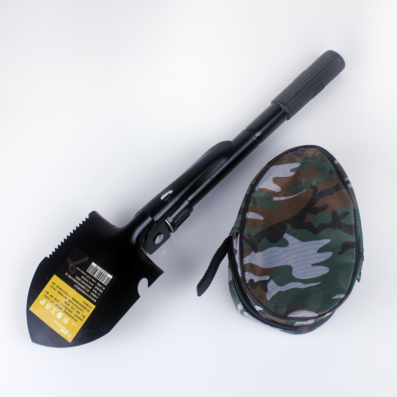 包邮 FLYTOP fly-top outdoor multi-purpose engineer Sapper shovel folding shovel spade Spades with compass small