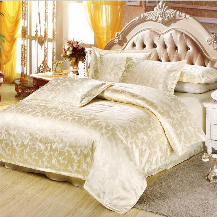 雅富娜家纺四件套正品全棉天丝贡缎提花被套婚庆床上用品特价