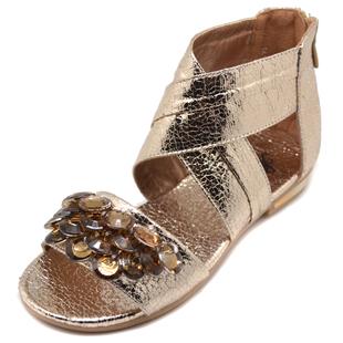 女童凉鞋 新款韩版公主鞋亮片水钻儿童夏季潮款中大童鞋