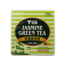 T family Mo sweet green tea bag/box 100 simple packaging tea bag Jasmine green tea Taiwan imports
