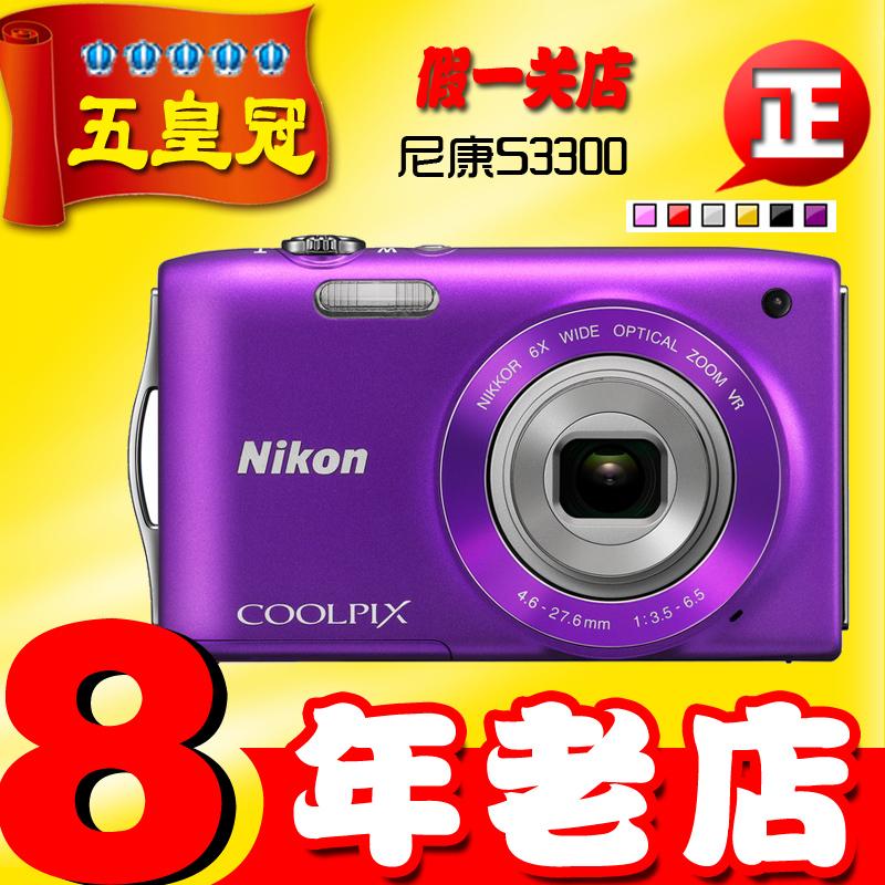 Цифровая камера NIKON COOLPIX S3300 CCD Высокого разрешения экрана HD (1280x720) Электронная стабилизация изображения