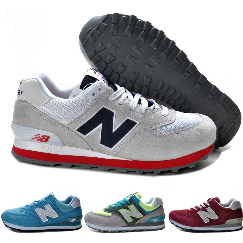 Демисезонные ботинки New Balance new balance 574 New Balance M574 Для отдыха Верхний слой из натуральной кожи Круглый носок Шнурок Лето