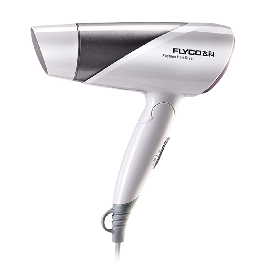 Flyco Household Foldable 1200W Thermostatic Negative Ion Fashion Hair Dryer